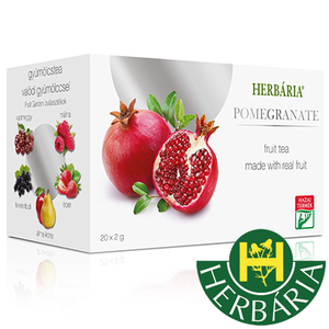 Fruit Herbaria - Pomegranate - tea with peaces of fruits 20 x 2g
